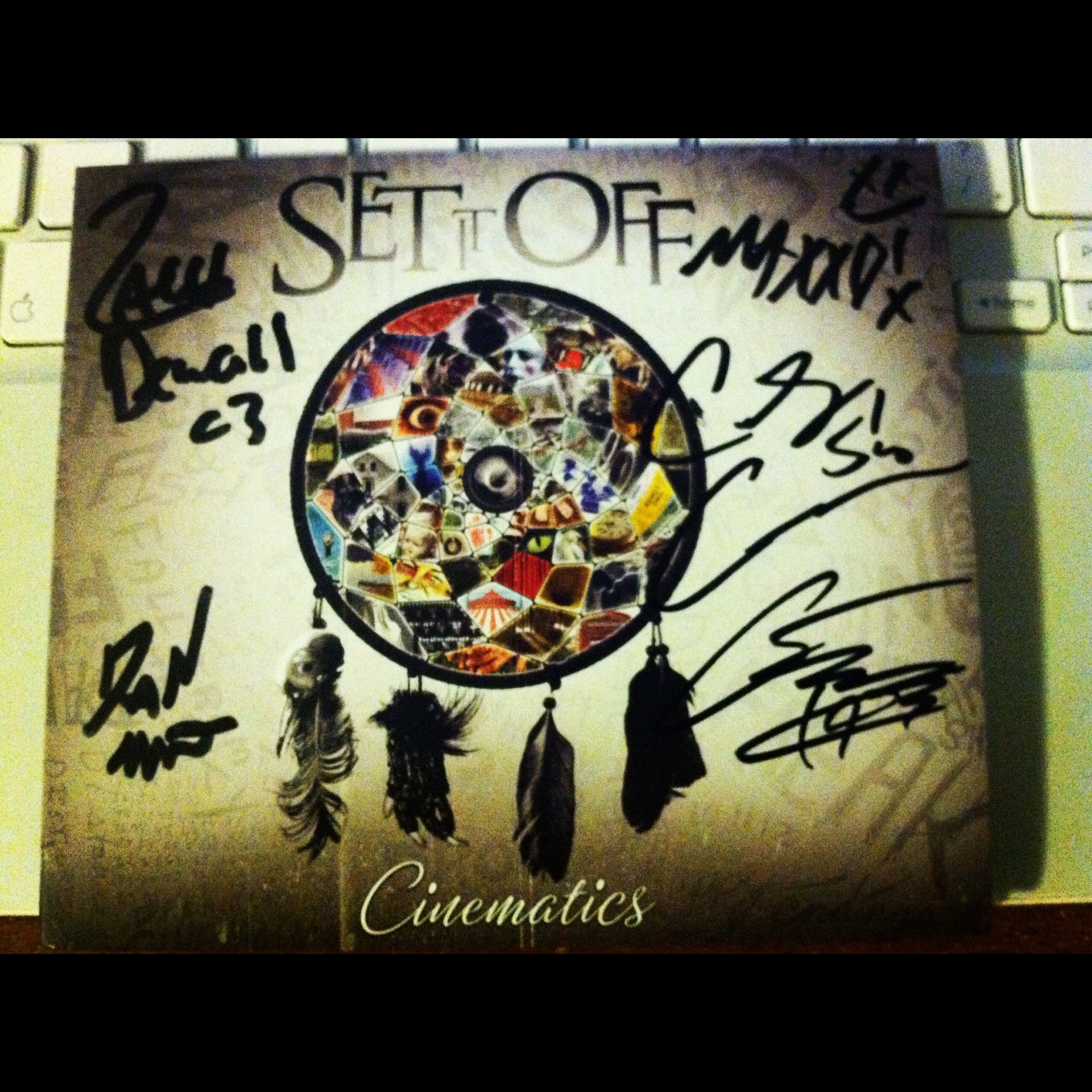 Signed copy of Cinematics from Set It Off